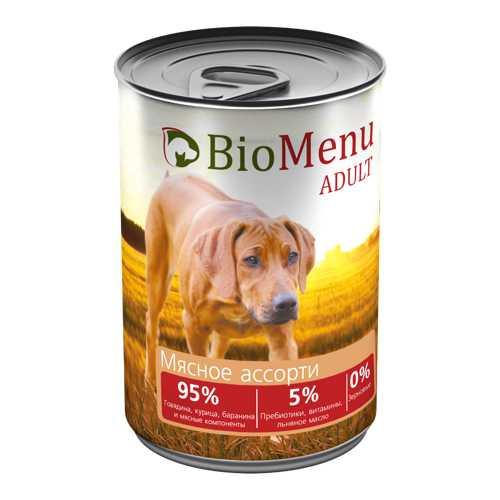 Biomenu консервы для собак мясное ассорти (0,41 кг) 1 шт
