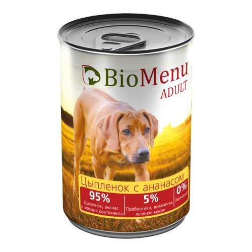 Biomenu консервы для собак с цыпленком и ананасами (0,41 кг) 1 шт