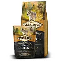 Brit Carnilove беззерновой корм для собак с лососем и индейкой 12 кг