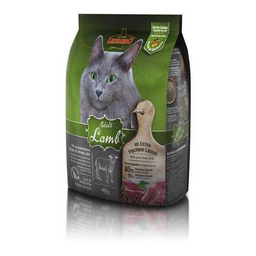 Леонардо сухой корм для кошек с ягненком 400 гр