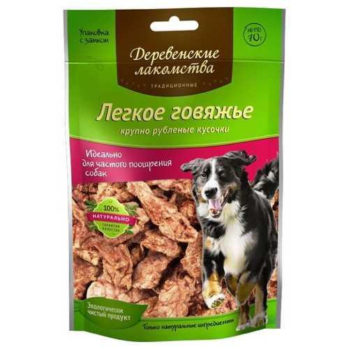Деревенские лакомства для собак говяжье легкое 70 гр