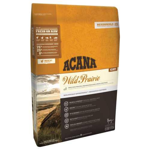 Acana Wild Prairie сухой корм для кошек и котят с курицей 5,4 кг