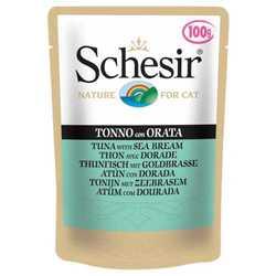 Schesir паучи для кошек с тунцом и дорадо (0,1 кг) 20 шт