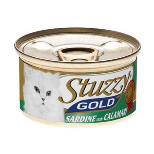 Stuzzy Gold консервы для кошек сардины с кальмарами (0.085 кг) 24 шт