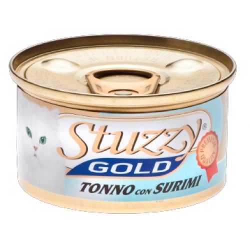 Stuzzy Gold консервы для кошек тунец с крабовыми палочками (0.085 кг) 24 шт