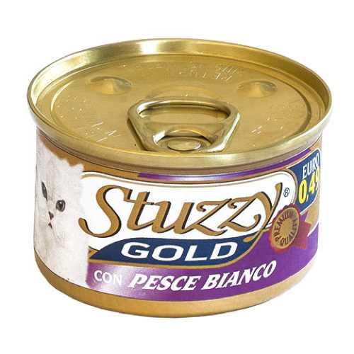 Stuzzy Gold консервы для кошек мусс из белой рыбы (0.085 кг) 24 шт
