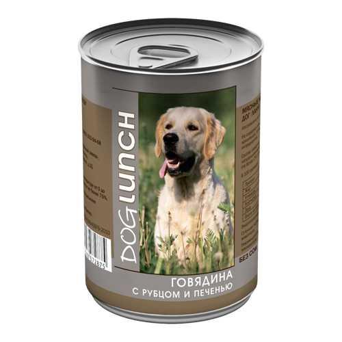 Dog Lunch консервы для собак говядина/рубец/печень в желе 410 гр х 12 шт