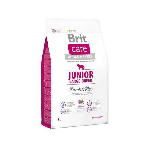 Brit Care Junior Large Breed сухой корм для щенков крупных пород с ягненком 3 кг