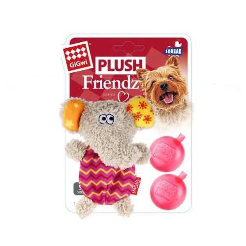 GiGwi игрушка для собак слоник с пищалкой