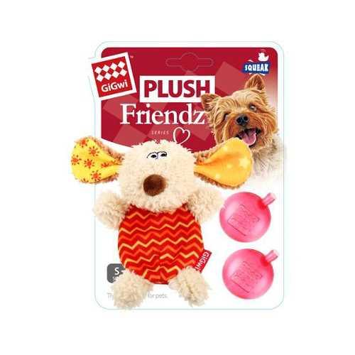 GiGwi игрушка для собак собачка с пищалкой