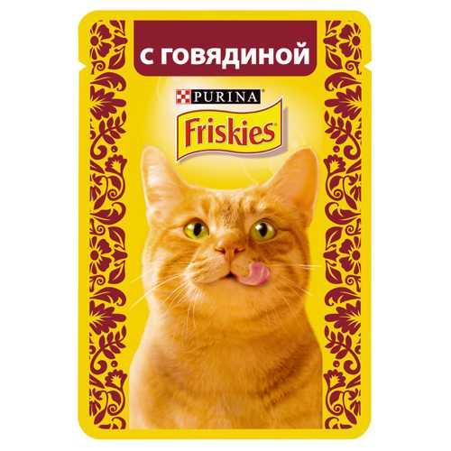 Friskies паучи для кошек говядина в соусе (0,085 кг) 24 шт