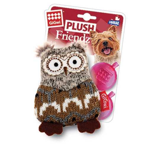 GiGwi игрушка для собак сова с пищалкой
