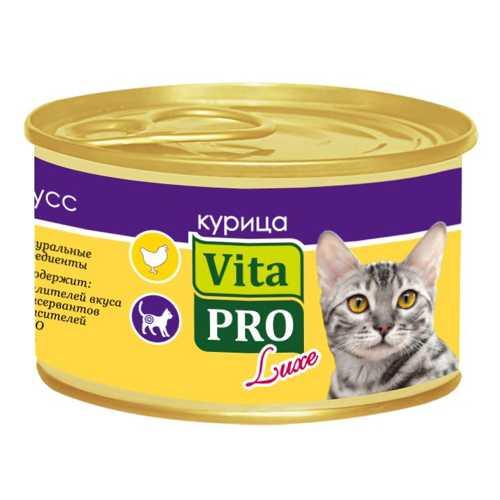 Vita Pro Luxe консервы для кошек с курицей (0,085 кг) 24 шт