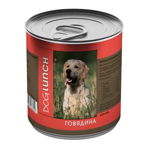 Dog Lunch консервы для собак говядина в желе 750 гр х 12 шт