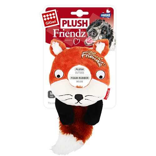 GiGwi игрушка для собак лиса с пищалкой