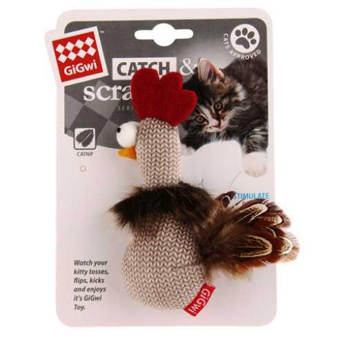 GiGwi игрушка для кошек Петух с кошачьей мятой
