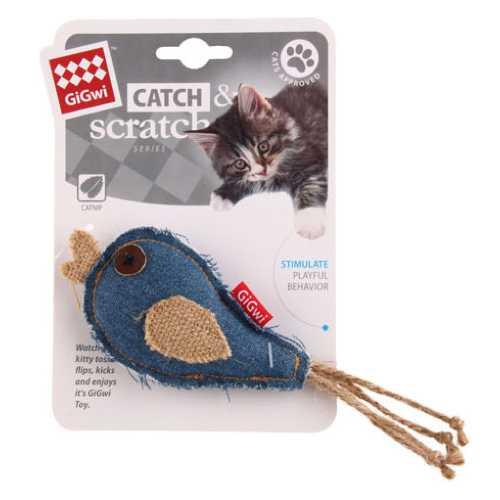 GiGwi игрушка для кошек Птичка с кошачьей мятой