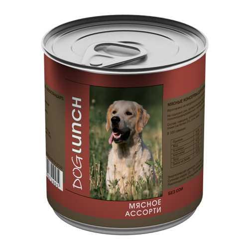 Dog Lunch консервы для собак мясное ассорти в желе 750 гр х 12 шт