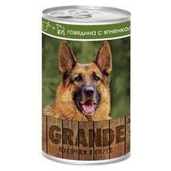 Vita Pro Grande консервы для собак говядина/ягненок 1250 гр х 12 шт