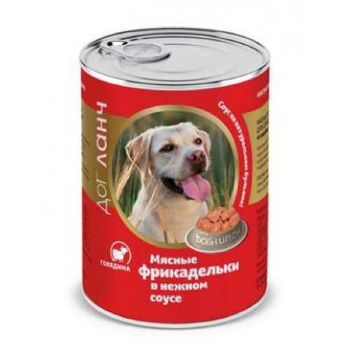 Dog Lunch консервы для собак фрикадельки в соусе с говядиной 850 гр х 6 шт
