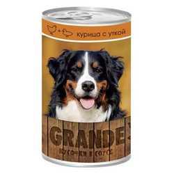 Vita Pro Grande консервы для собак курица/утка 1250 гр х 12 шт