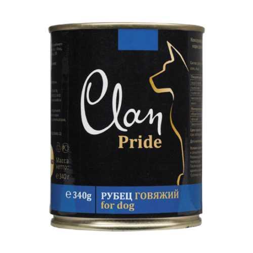 Клан Прайд консервы для собак с говяжим рубцом (0,34 кг) 12 шт