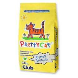 "Pretty Cat комкующийся наполнитель ""Супер белый"" 10 кг"