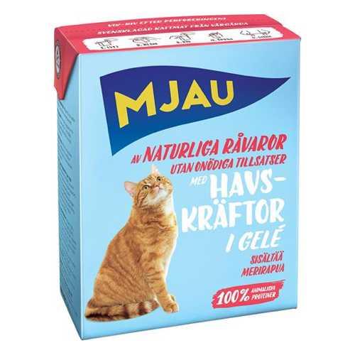 Мяу консервы для кошек кусочки лангуста в желе (0.38 кг) 1 шт