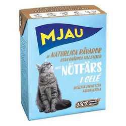 Mjau консервы для кошек кусочки говяжьего фарша в желе (0,38 кг) 1 шт