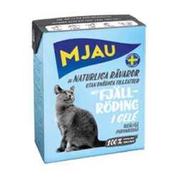 Mjau консервы для кошек кусочки лосося в желе (0,38 кг) 1 шт