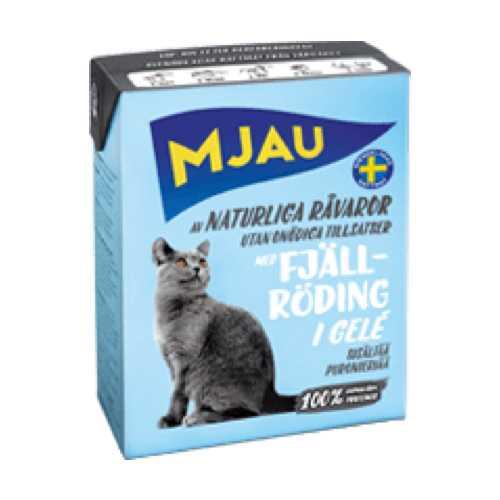 Мяу консервы для кошек кусочки лосося в желе (0.38 кг) 1 шт