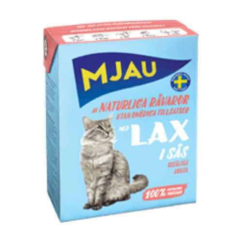 Мяу консервы для кошек кусочки лосося в соусе (0.37 кг) 1 шт