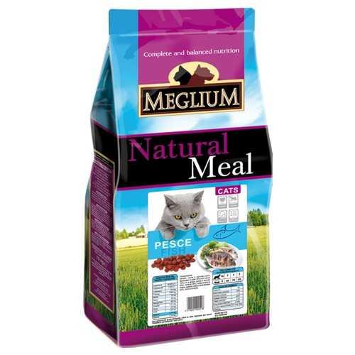 Меглиум сухой корм для кошек с рыбой 3 кг