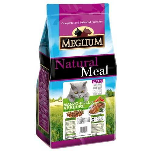 Меглиум сухой корм для кошек с курицей и овощами 15 кг