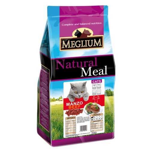 Меглиум сухой корм для кошек с говядиной 3 кг