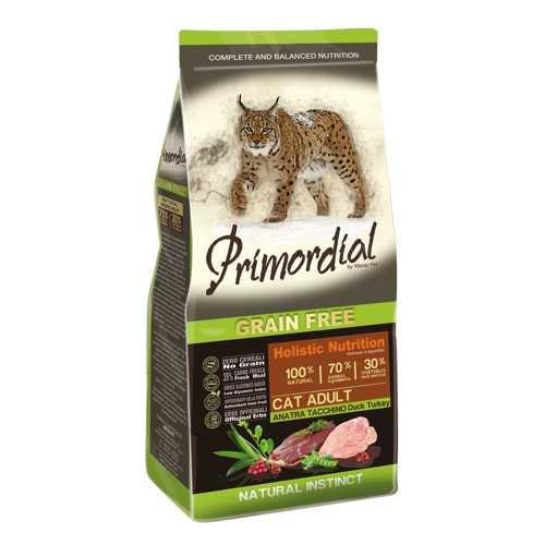 Примордиал беззерновой сухой корм для кошек с уткой и индейкой 2 кг