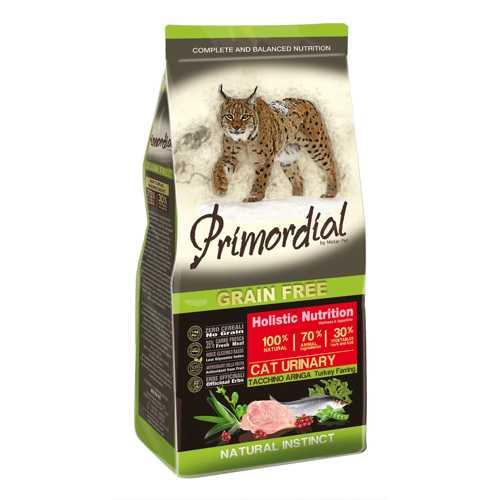 Примордиал беззерновой сухой корм для кошек с индейкой и сельдью 2 кг