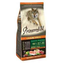 Primordial беззерновой корм для собак курица с лососем 12 кг