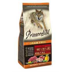 Primordial беззерновой корм для собак с буйволятиной и скумбрией 12 кг