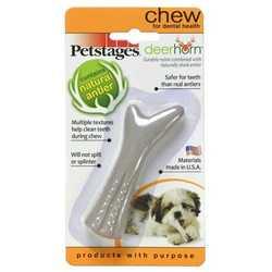 Petstages Deerhorn игрушка для собак оленьи рога 9 см