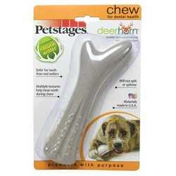 Petstages Deerhorn игрушка для собак оленьи рога 16 см