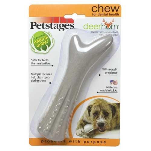 Petstages игрушка для собак Deerhorn, с оленьими рогами средняя
