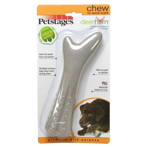 Petstages игрушка для собак Deerhorn, с оленьими рогами большая
