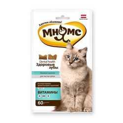 Мнямс лакомство для кошек здоровые зубы 60 гр