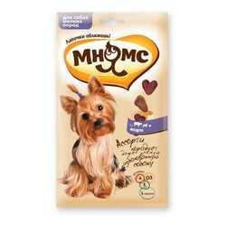 Ассорти Мнямс для собак мелких пород с говядиной, ягненком и курицей 60 гр