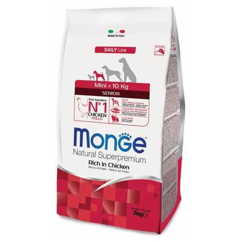 Monge Dog Mini корм для пожилых собак мелких пород 3 кг