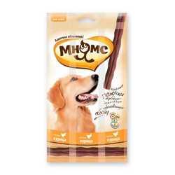 Мнямс лакомство для собак с курицей 15 гр х 3 шт