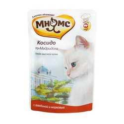 Мнямс паучи для кошек говядина с морковью (0.085 кг) 12 шт