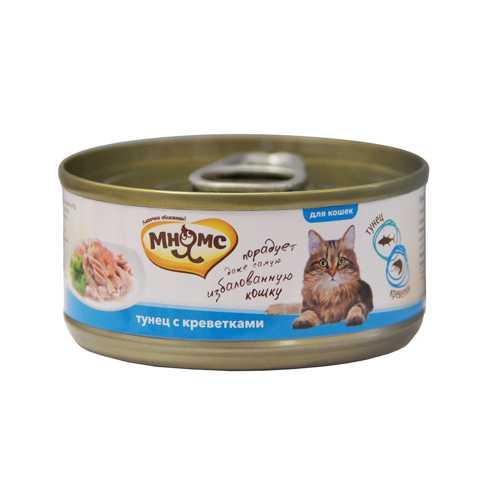 Мнямс консервы для кошек тунец с креветками (0.07 кг) 12 шт
