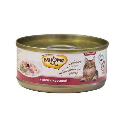 Мнямс консервы для кошек тунец с курицей (0.07 кг) 12 шт